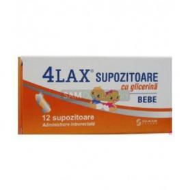 Supozitoare 4LAX Bebe cu glicerina pentru sugari, 12 buc, Solacium Pharma