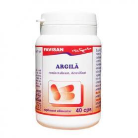 Argila Favisan, 40 capsule