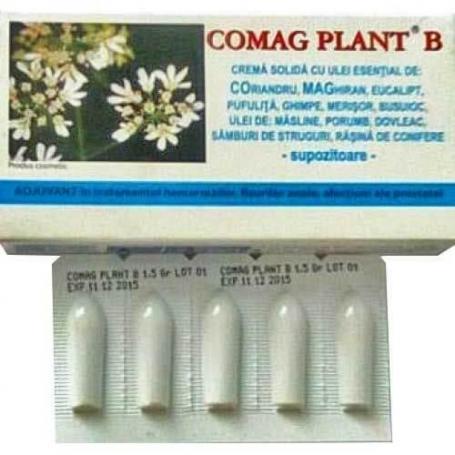 Supozitoare Comag Plant B, 10 bucati, Elzin Plant