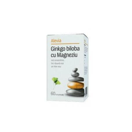 Ginkgo Biloba cu Magneziu 60 comprimate, Alevia