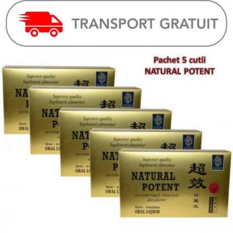 Natural Potent x 6 fiole (pachet de 5 cutii)