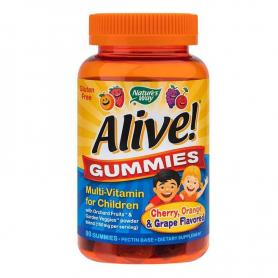 Alive Gummies, 90 jeleuri gumate, Secom