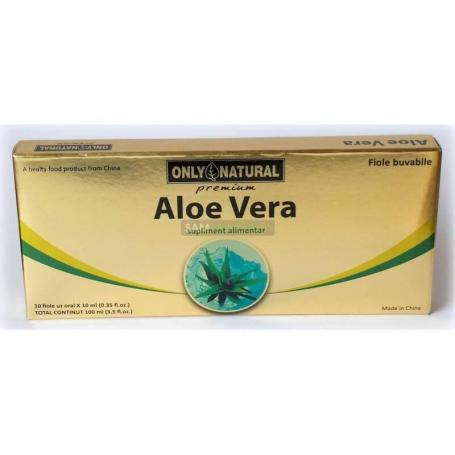 Aloe Vera 1000 mg, fiole buvabile Only Natural