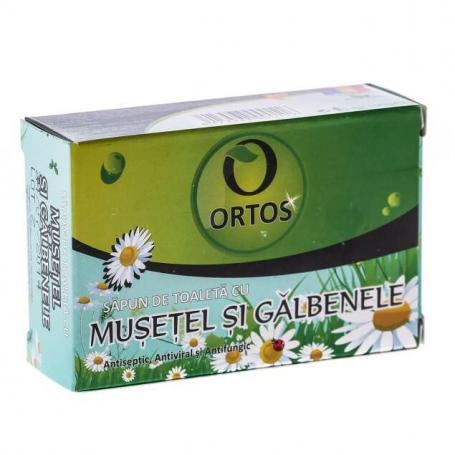 Sapun cu extract de musetel si galbenele, 100 g, Ortos
