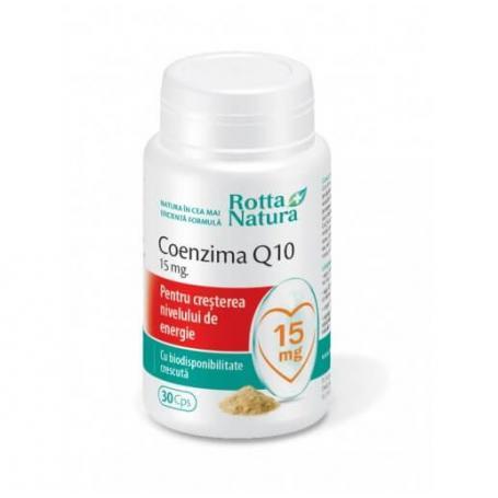 Coenzima Q10 15 mg 30 capule Rotta Natura