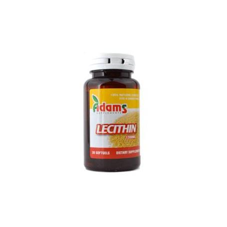 Lecitina 1200mg, 60 capsule, Adams Vision