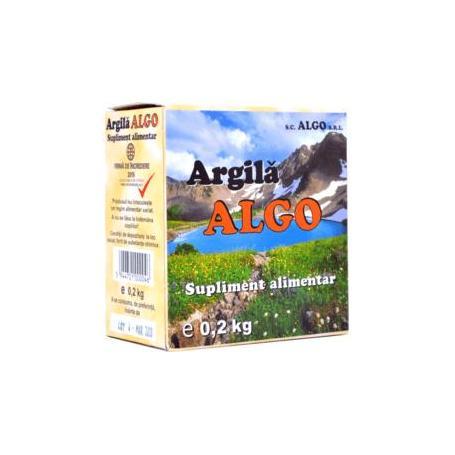 Argila, cura cu argila pulbere, 200 g, Algo Bocan