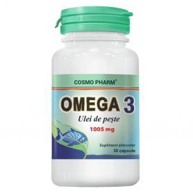 Omega 3 Ulei de Peste, 30 capsule, Cosmopharm
