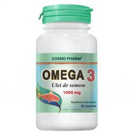 Omega 3 Ulei de somon, 30 capsule, Cosmopharm