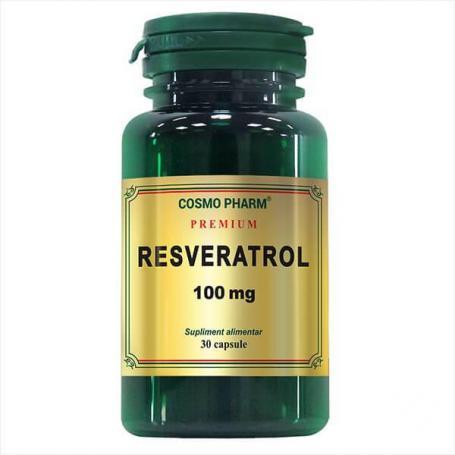 Premium Resveratrol 100 mg, 30 capsule, Cosmopharm