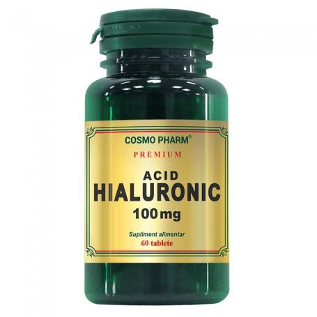 Acid hialuronic 100 mg Premium, 60 tablete, Cosmopharm