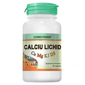 Calciu Lichid, Mg, Vitamina K1 si Vitamina D3, 30 capsule, Cosmopharm