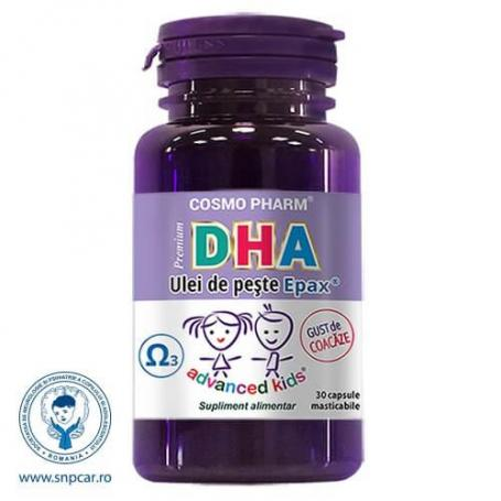 Dha Premium pentru copii, 30 capsule masticabile, Cosmo Pharm
