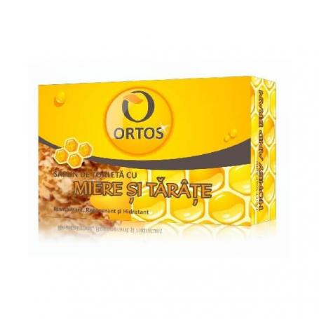 Sapun cu miere si tarate, 100 g, Ortos