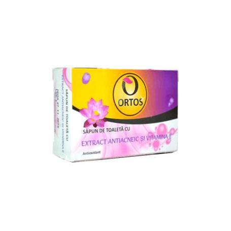 Sapun cu extract antiacneic si vitamina E 100gr Ortos