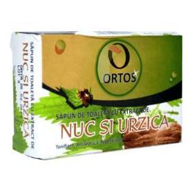 Sapun cu extract de nuc si urzica, 100 gr, Ortos