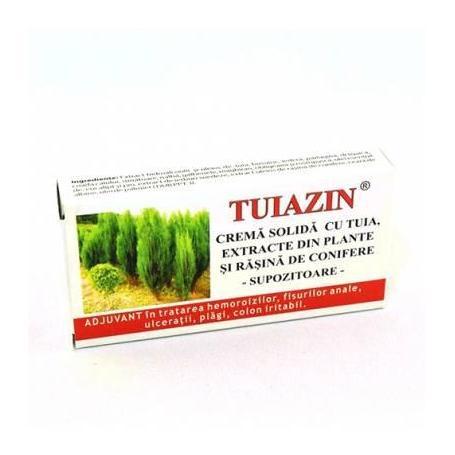 Tuiazin - supozitoare cu extract de tuia 10 x 1.5g - Elzin Plant
