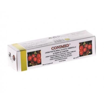 Conimed, 50 ml, Elzin Plant - Crema pentru masaj cu untul pamantului si rasina de conifere