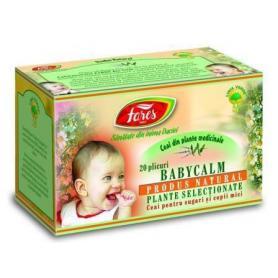 Ceai pentru colici, Baby Calm, 20 dz, Fares