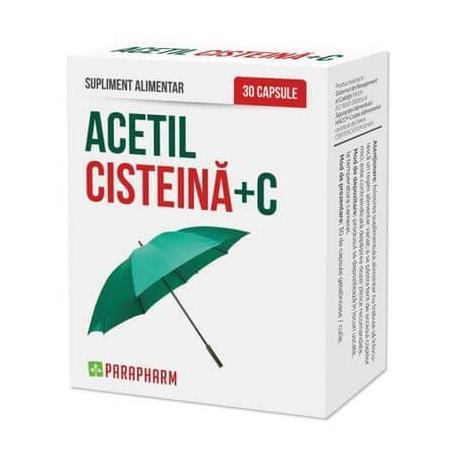 Acetil Cisteina+C, 30 capsule, Parapharm