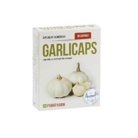 Garlicaps capsule cu extract de usturoi, 30 capsule, Parapharm