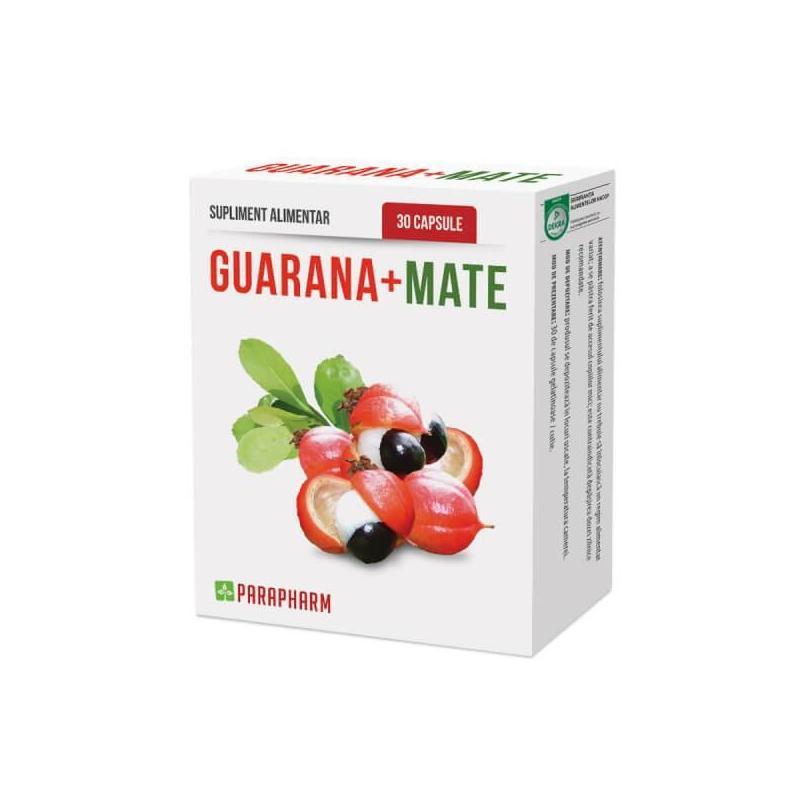 Guarana + Mate, 30 capsule, Parapharm