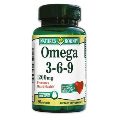 Omega 3-6-9, 30 capsule, Nature's Bounty