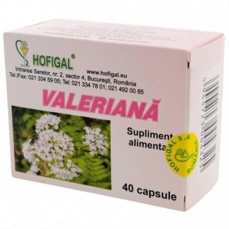 Valeriana, 40 capsule, Hofigal