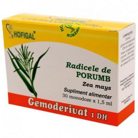 Radicele de Porumb Gemoderivat, 30 monodoze, Hofigal