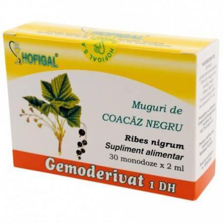 Muguri de Coacaz Negru Gemoderivat, 30 monodoze, Hofigal