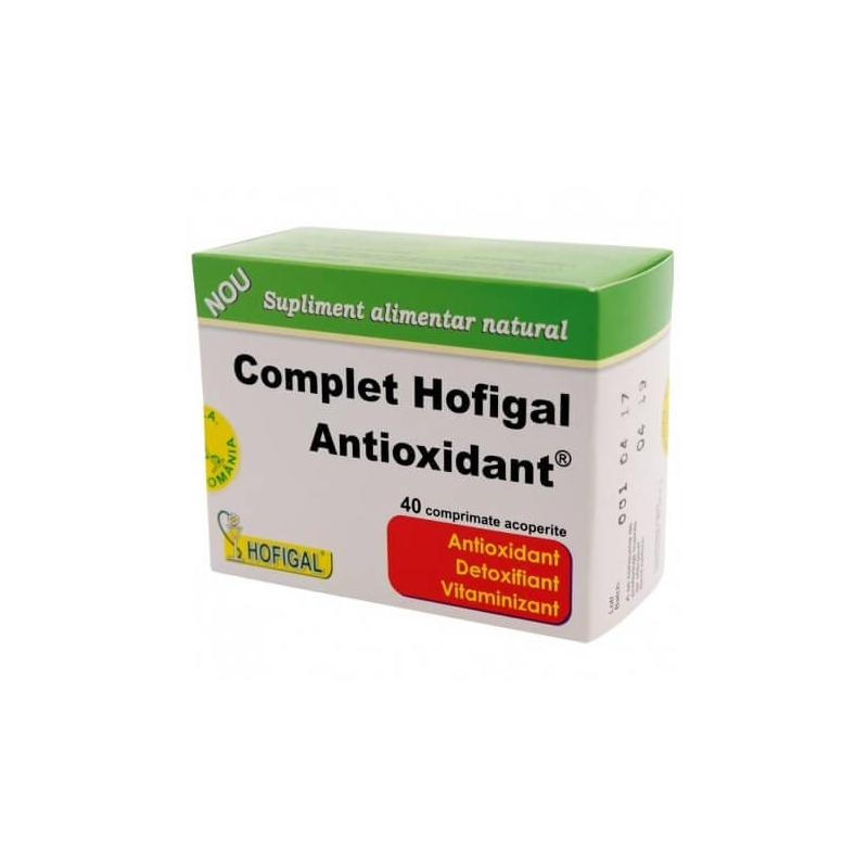 Complet antioxidant, 40 comprimate, Hofigal