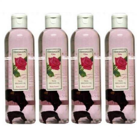 Ulei masaj cu parfum de trandafir, 1000 ml, Herbagen