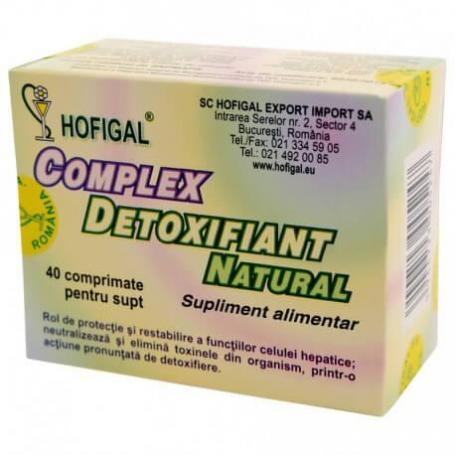 Complex detoxifiant, 40 comprimate, Hofigal