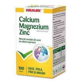Calcium Magnezium Zinc, 100 tablete, Walmark