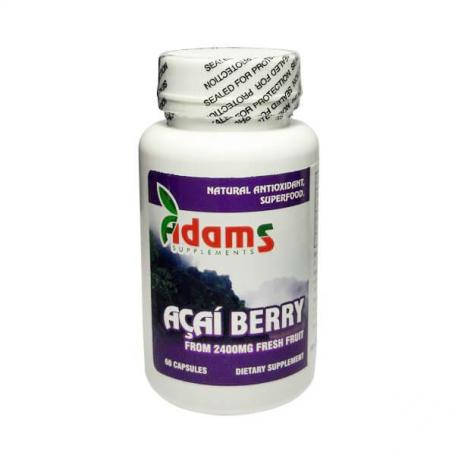 Acai Berry, 600Mg, 60 capsule, Adams Vision