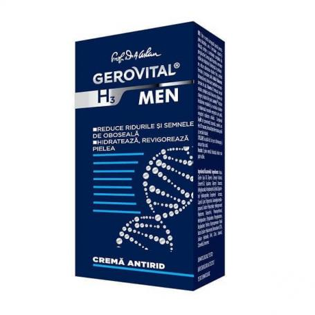 Crema antirid Gerovital H3 Men, 30 ml, Farmec