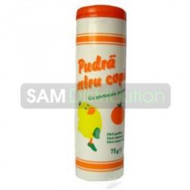 Mebra Pudra Pentru Copii cu portocale si capsuni 75 gr