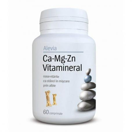 Ca-Mg-Zn Vitamineral, 60 comprimate, Alevia