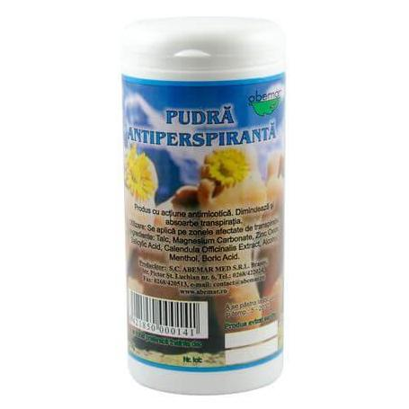 Pudra antiperspiranta transpiratie picioare, Abemar Med