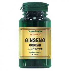 Ginseng Corean 1000 mg Premium, 60 tablete, Cosmopharm