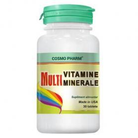 Multivitamine si Multiminerale, 30 tablete, Cosmopharm