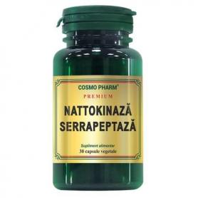 Nattokinaza Serrapeptaza, 30 capsule Premium, Cosmopharm