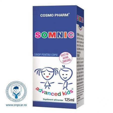 Somnic sirop Advanced Kids, 125 ml, Cosmopharm