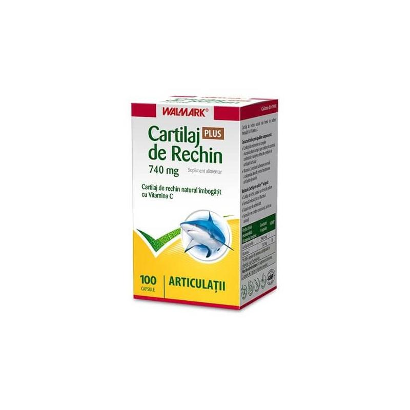 Cartilaj de Rechin Forte 740 mg 100 capsule, Walmark