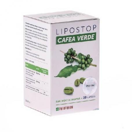 Lipostop cu cafea verde, 30 capsule, Parapharm