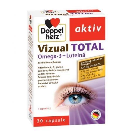 Vizual Total cu Omega 3 si Luteina, 30 capsule, Doppelherz