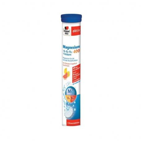 Magneziu 400 Acid Folic Vitamina B6, 15 comprimate, Doppelherz