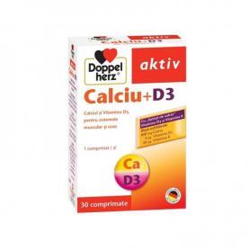 Calciu D3, 30 comprimate, Doppelherz