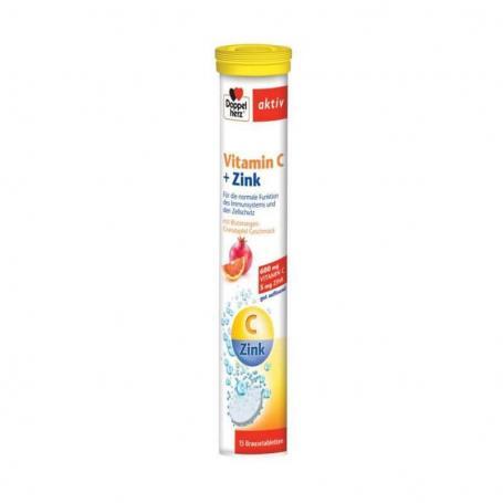 Vitamina C Zinc, 15 comprimate, Doppelherz