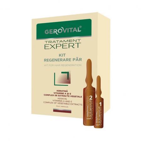 Gerovital tratament expert, 20 fiole, kit regenerare par